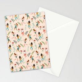Central Park Workout #illustration #pattern #womensday Stationery Cards