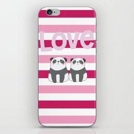 Valentine Panda Love iPhone Skin