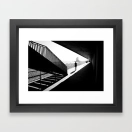 Barceloneta runner Framed Art Print