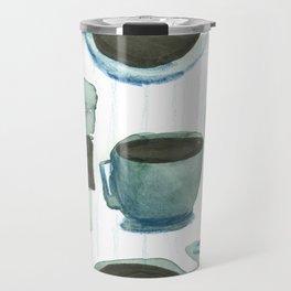 coffees watercolor Travel Mug