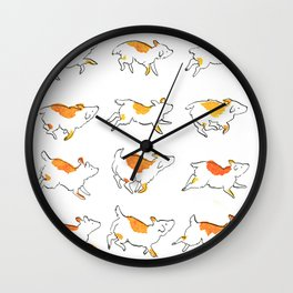 Puppy in Motion Wall Clock