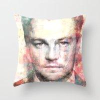 leonardo dicaprio Throw Pillows featuring Leonardo DiCaprio by Nechifor Ionut