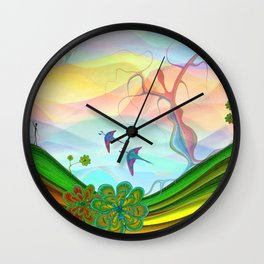 Goddess valley art Wall Clock