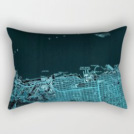 San Francisco North, California vintage map, year 1947,usa old maps Rectangular Pillow