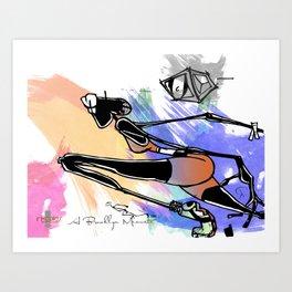 the runner Art Print