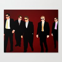reservoir dogs Canvas Prints featuring Reservoir Dogs by Tom Storrer