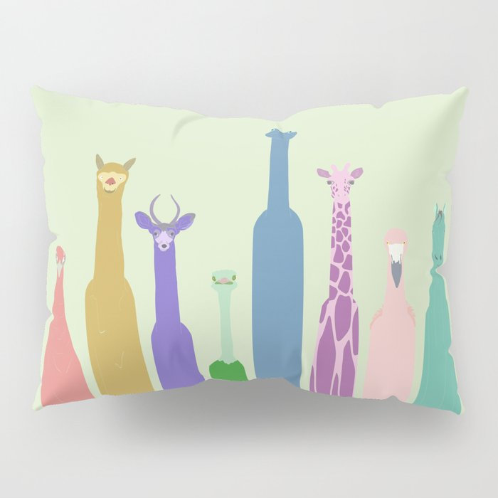 Long Neck Animals Pillow Sham