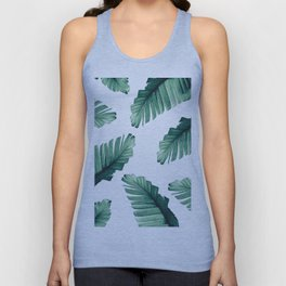 Tropical Banana Leaves Dream #5 #foliage #decor #art #society6 Unisex Tank Top