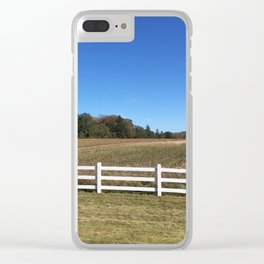 Sunny Field Clear iPhone Case