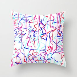 playful charges Throw Pillow