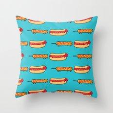 Dog Eat Dog World Throw Pillow
