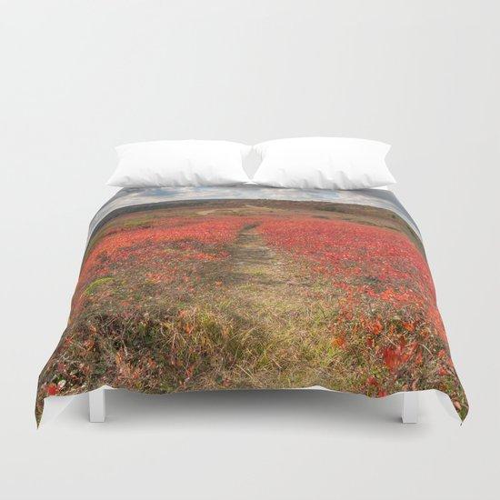 Autumn Huckleberry Trail Duvet Cover