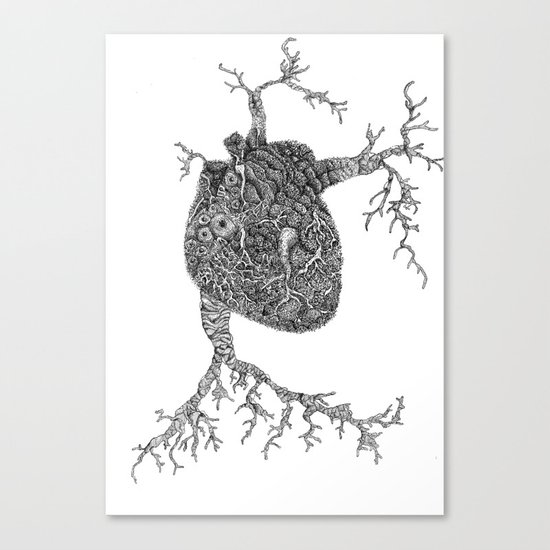 Monsters Heart Canvas Print