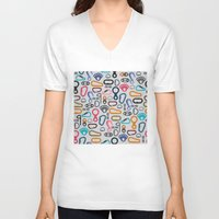 climbing V-neck T-shirts featuring Climbing Stuff by Poli Cunha