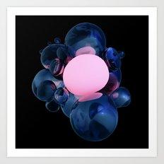Warm Bubble Art Print