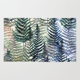 Watercolour Ferns Rug
