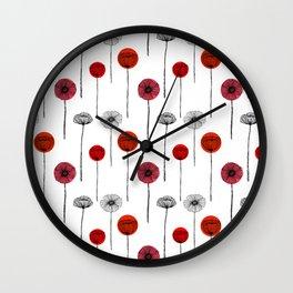 Papaveri rigati Wall Clock