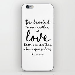 Be devoted to one another in love. iPhone Skin