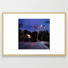 Bam - fire sculpture drop in Framed Art Print