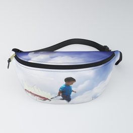 Star Boy Pulling Little Red Wagon Fanny Pack