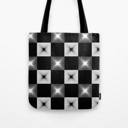 Black And White Illusion Pattern Tote Bag