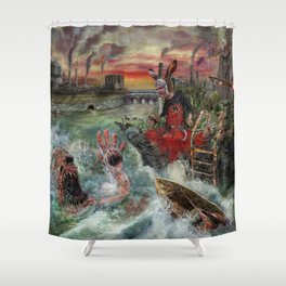 Where the wild things die Shower Curtain