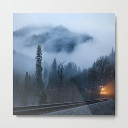 MOUNTAIN, FOREST & FOG1 Metal Print