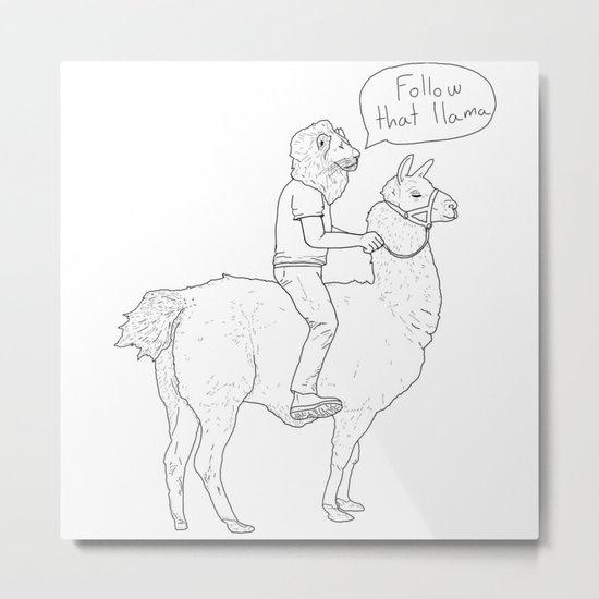 Follow that llama ! Metal Print