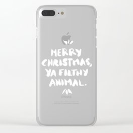 Merry Christmas, Ya Filthy Animal – Red Clear iPhone Case