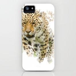Jaguar Watercolour iPhone Case