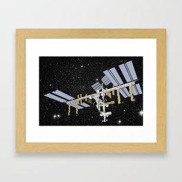 ISS- International Space Station Framed Art Print