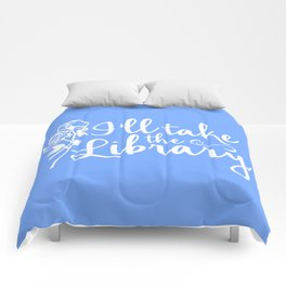 I'll Take the Library + Belle Blue Comforters