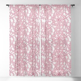 Candy cane flower pattern 7 Sheer Curtain