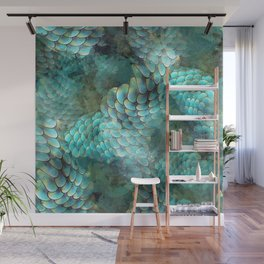 Mermaid Scales Wall Mural