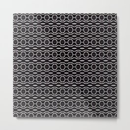 Funky Black And White Pattern Metal Print
