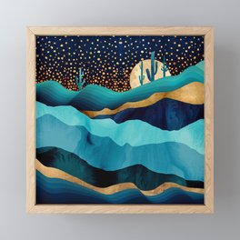 Indigo Desert Night Framed Mini Art Print
