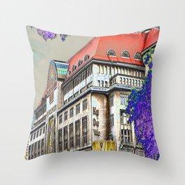 Shopping in Berlin Throw Pillow