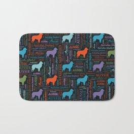 Australian Shepherd Aussie Word Art Bath Mat