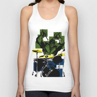 drums Tank Tops featuring Smash the Drums... by Doctorductape