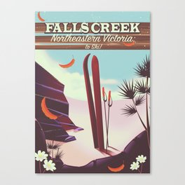 Falls Creek, Northeastern Australia Ski poster, Canvas Print
