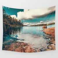 belle Wall Tapestries featuring Belle Svezia by HappyMelvin