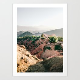 Travel photography Atlas Mountains Ourika | Colorful Marrakech Morocco photo Art Print
