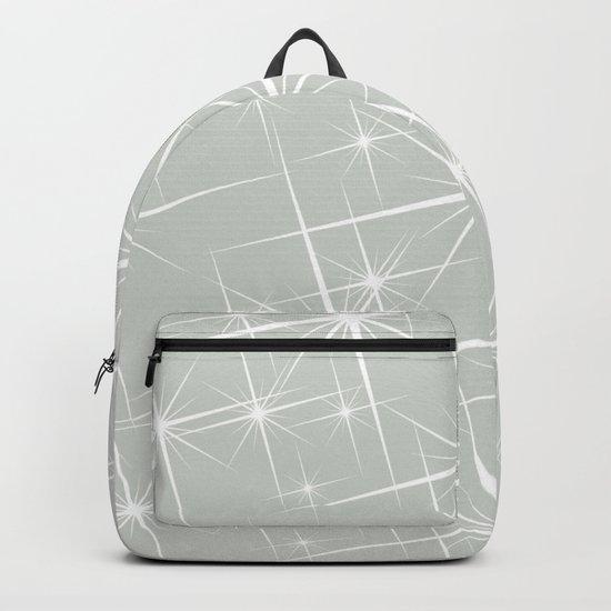 Gray Grey Glitters Sea Salt Backpack