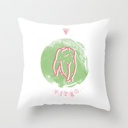 Virgo - Teeth Zodiac Throw Pillow