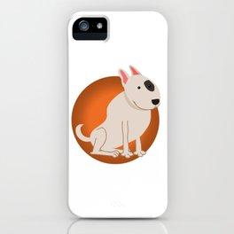 Bull Terrier Illustration iPhone Case