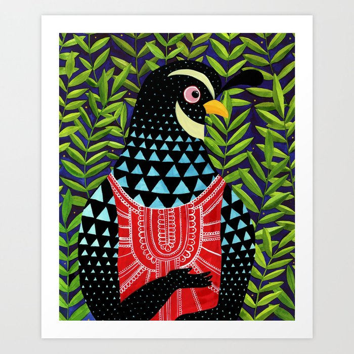 The quail prince has arrived Art Print