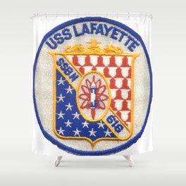 USS LAFAYETTE (SSBN-616) PATCH Shower Curtain