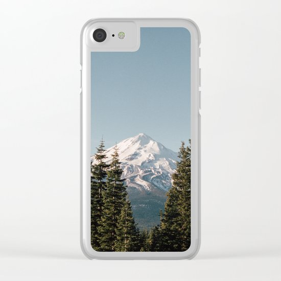 Mt Shasta Morning Clear iPhone Case