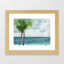Peaceful Mexico Beach Framed Art Print
