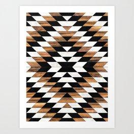 Urban Tribal Pattern No.13 - Aztec - Concrete and Wood Art Print